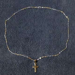 Stainless Necklace w/ Cross Pendant