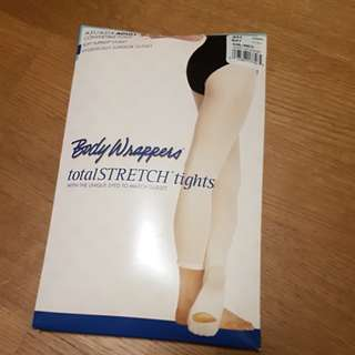 Ballet pink tights convertible foot
