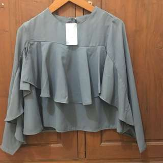 Reprice / NEW! Grey blouse by Mayoutfit