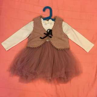 Ready stock - baby girl princess dresses set