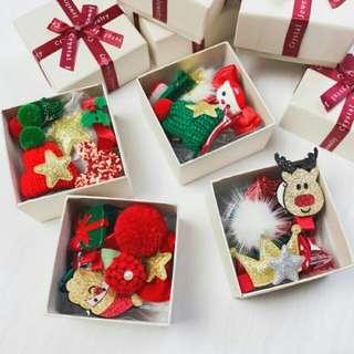 禮盒裝韓版聖誕公主髮夾10件套