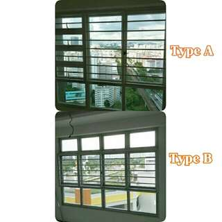 Alum. Sliding Window and Grille