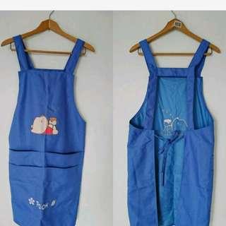 🚚 POOH 小熊維妮 藍色圍裙(內面防水材質)