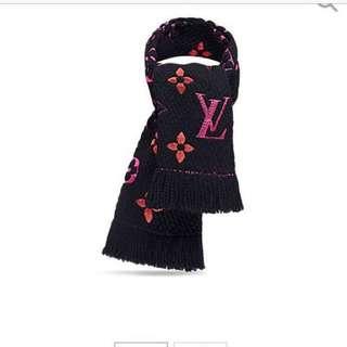 LV rainbow scarf black