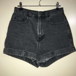 American Apparel High-waist Jean Cuff Short