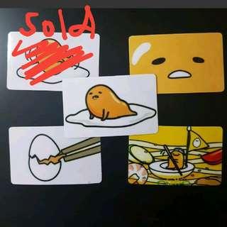 Gudetama Ez-Link Card Stickers