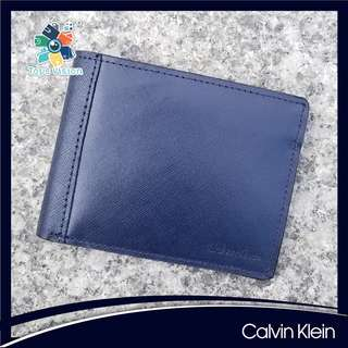 全新 Calvin Klein (CK) Men's Saffiano Leather Wallet, Navy