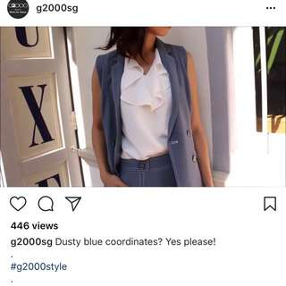 BNWT g2000 vest in dusty blue
