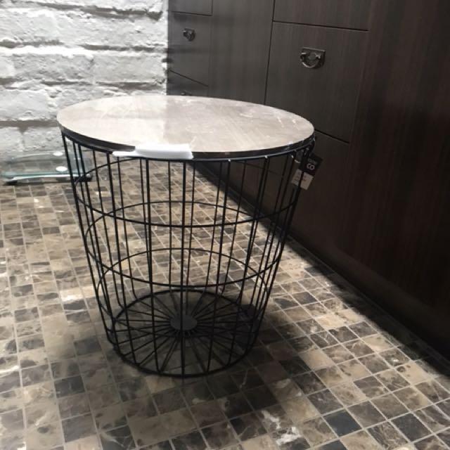 2 X bedside tables/ baskets