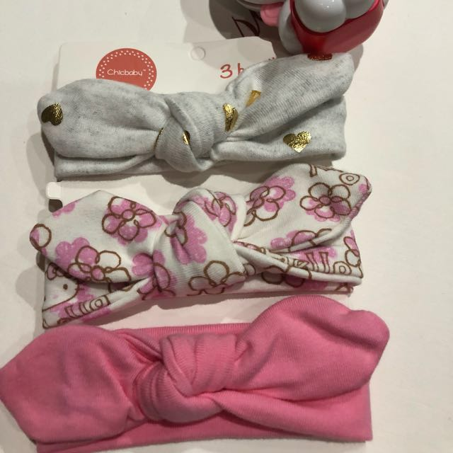 89d27efff 3 pcs set baby hair band / head wrap/ hello kitty Headband , Babies & Kids,  Babies Apparel on Carousell
