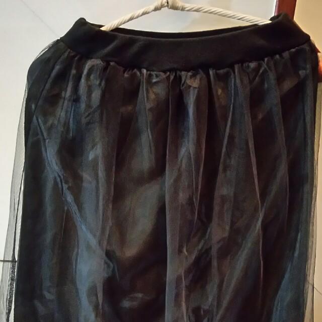 假二件式紗褲裙