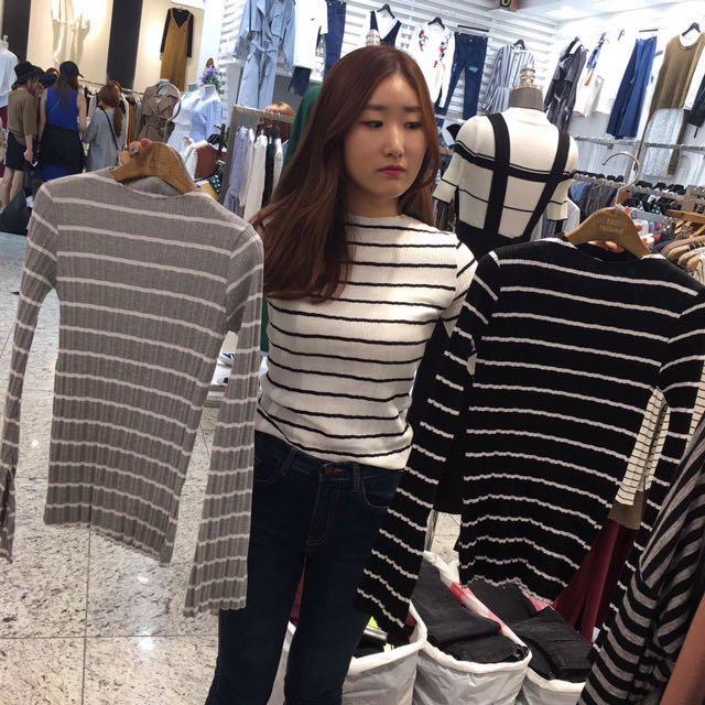 花泥小姐,黑白條紋上衣✨#我的女裝可超取