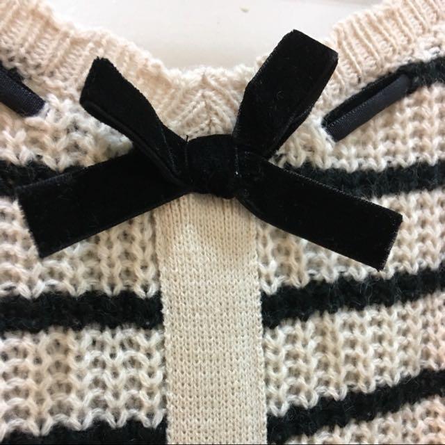 蝴蝶結針織毛衣
