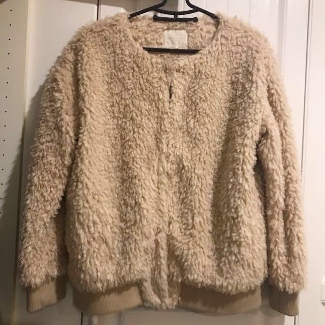 日本購入毛毛外套(全新)