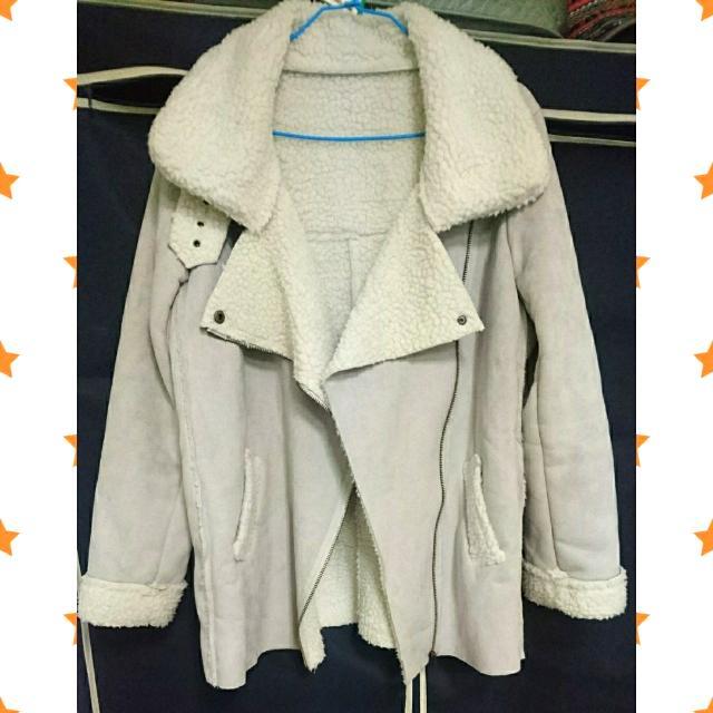 韓-內舖毛騎士麂皮外套