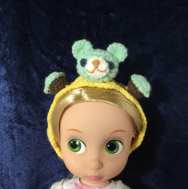 迪士尼 沙龍娃娃 薄荷熊頭飾