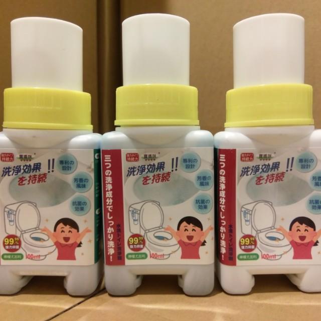 全新原廠現貨 一丁目電販寶媽咪 日本專利強離子自動清潔芳香劑馬桶自動清潔劑清潔液 檸檬尤加利味 銀離子強力抑菌
