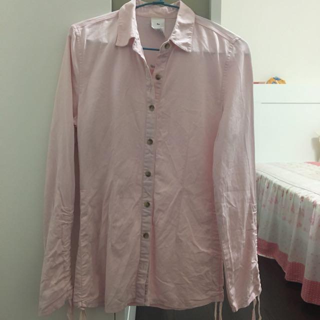 二手 galoop 粉色襯衫