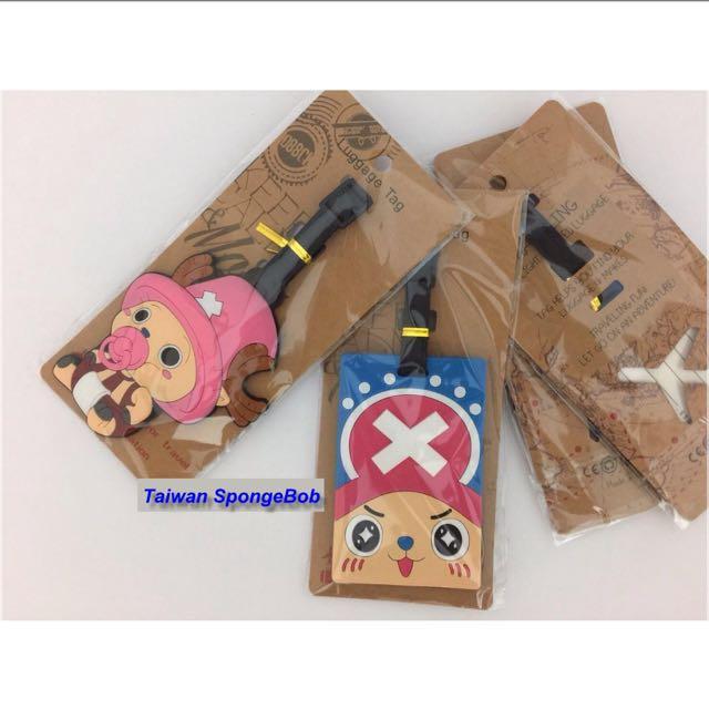 創意可愛卡通 One Piece 海賊王 航海王 立體矽膠公仔行李牌 行李箱吊牌 大行李箱吊牌 掛飾~有兩種款式