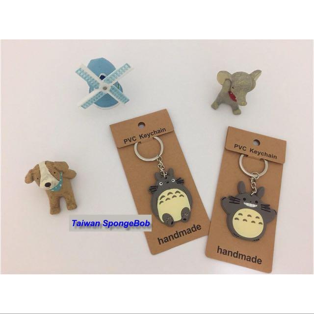 創意可愛卡通 Totoro 龍貓/豆豆龍 立體矽膠公仔單面鑰匙圈 鑰匙扣 掛飾 包包掛飾 吊飾~有兩種款式