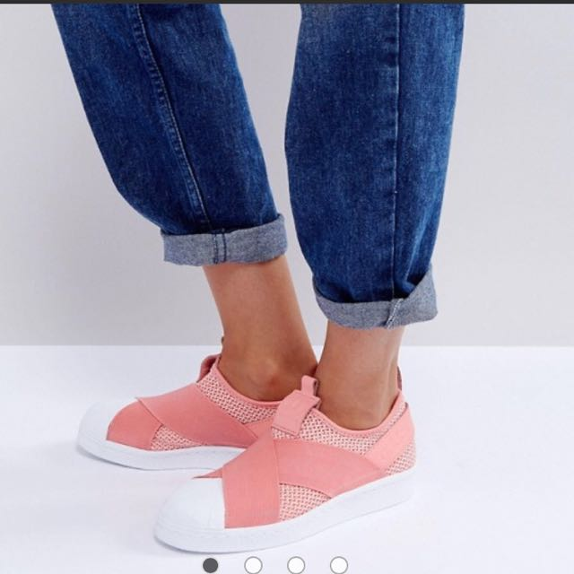 adidas Originals Coral Superstar Slip