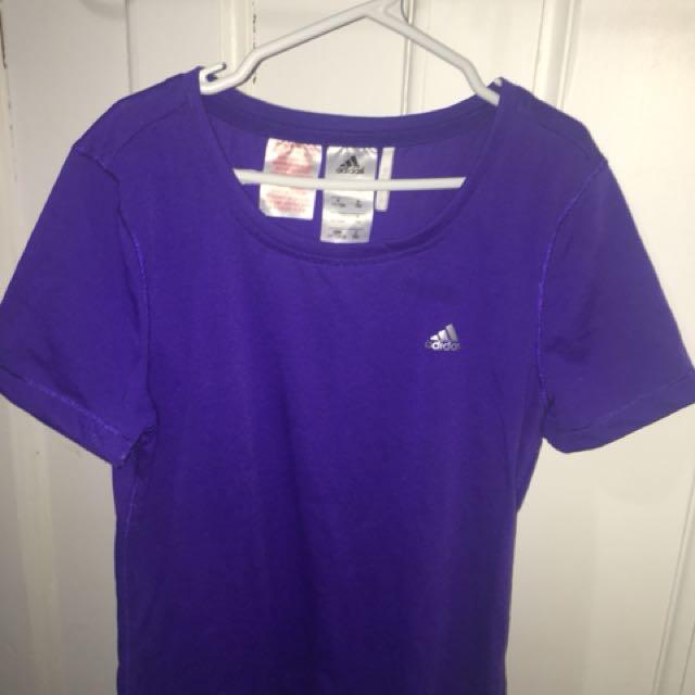 Adidas purple top