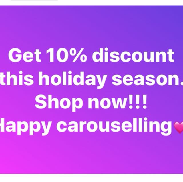 All items 10% discount