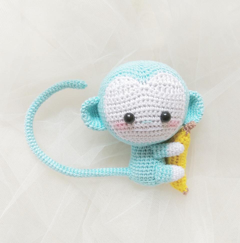 Big Monkey - Free Crochet Pattern by Chimu Hamada. | Monkey ... | 972x960