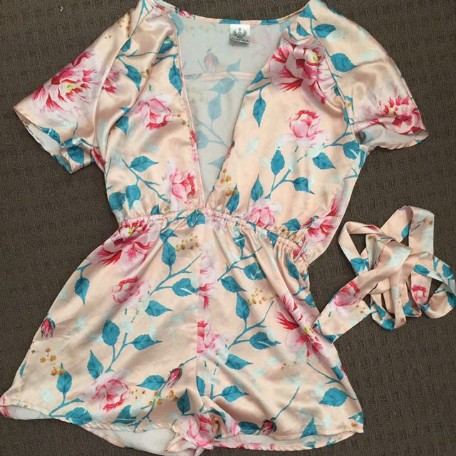 Angel Biba Floral Playsuit