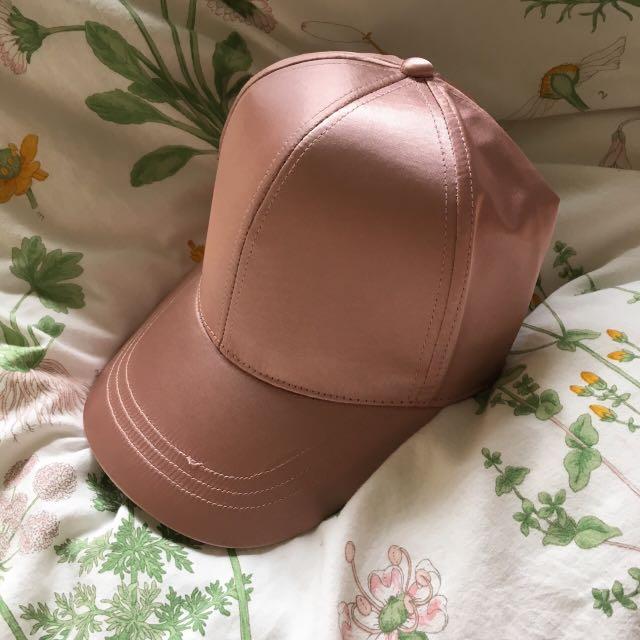 5edb5d87e5e ASOS PINK SATIN BASEBALL CAP