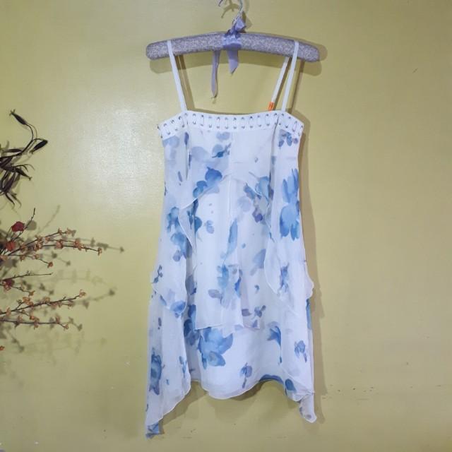 Auth. Emporio Armani Layered Silk Dress