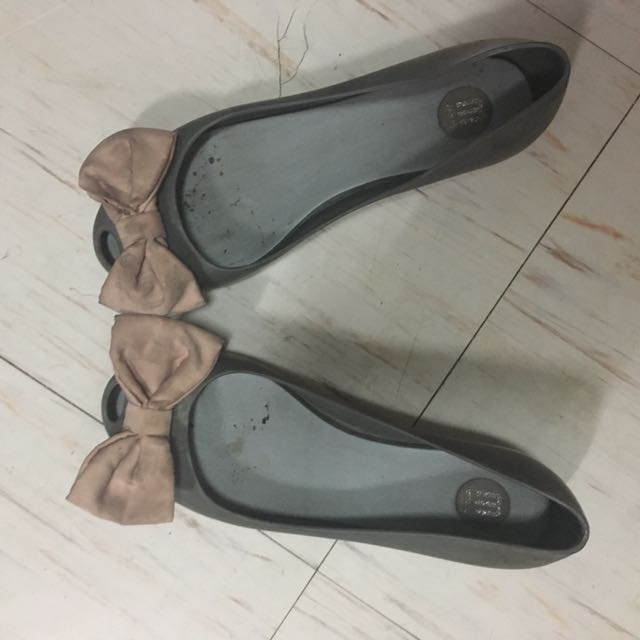 Auth Melissa Bow Flat Shoes