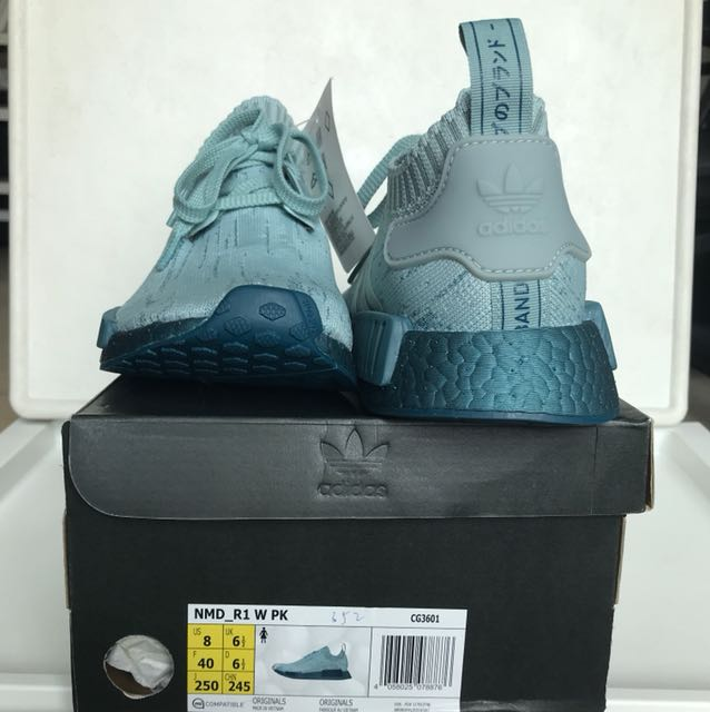 161cb473a5a03 Authentic Adidas NMD R1 Sea Crystal CG3601