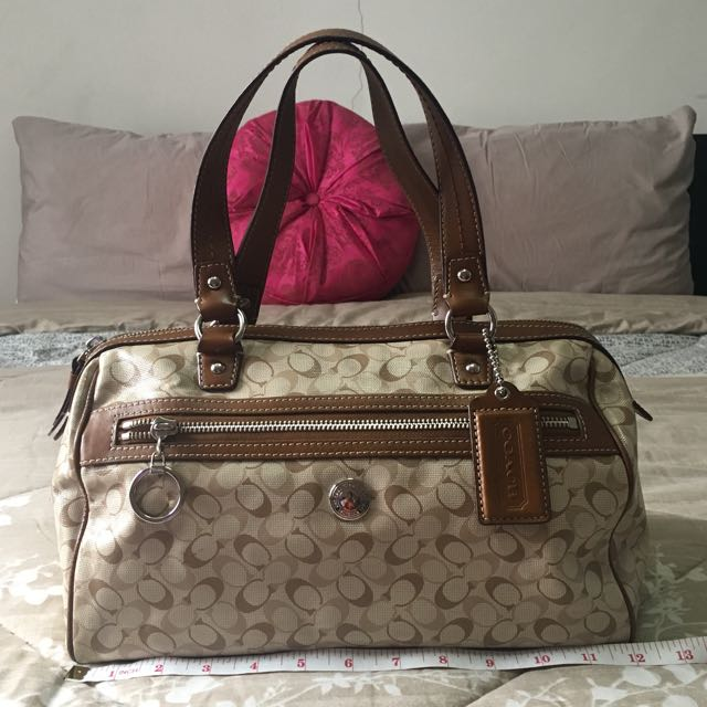 Authentic Coach Heritage Boston Bag