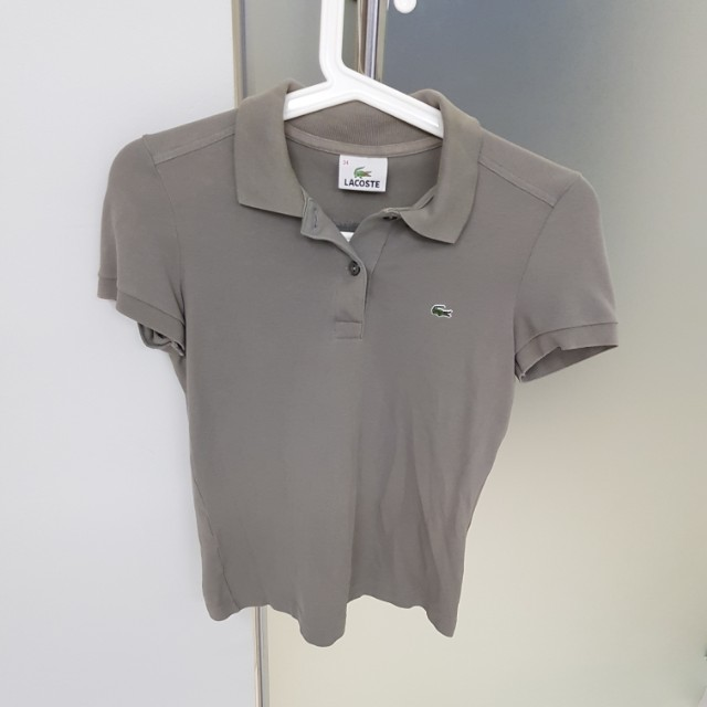 Authentic Lacoste Polo Tee in Grey