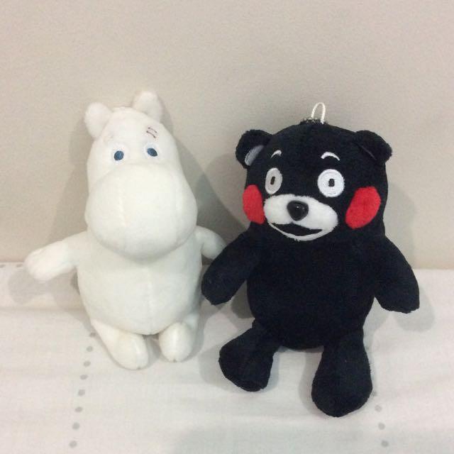 Authentic Moomin & Kumamon Plushies