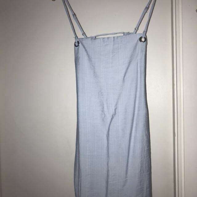 Baby blue mini dress