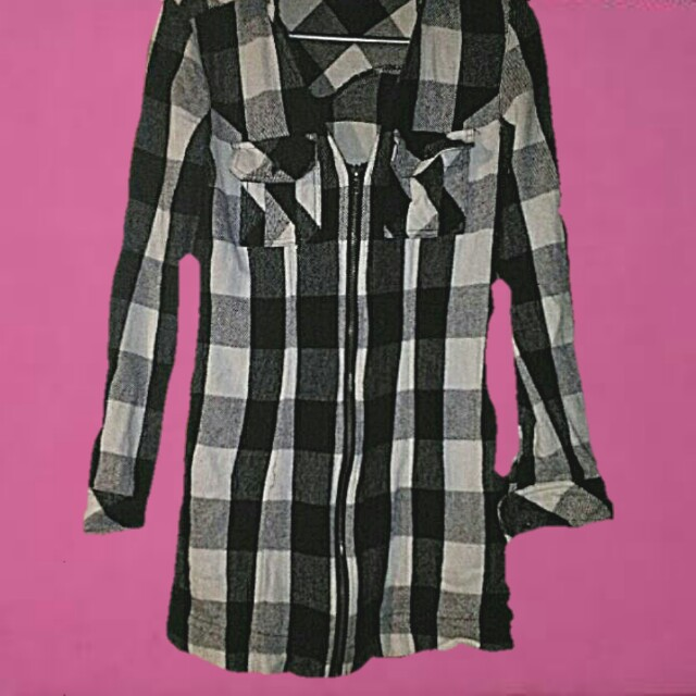 bardot flannel dress xs