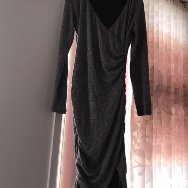 Bardot long sleeve dress 10