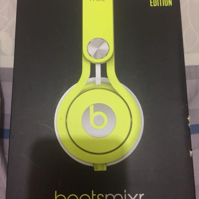 Beats mixr – Monster 台灣公司貨 絕版全罩大衛庫塔代言耳機100%正貨 特殊配色款 螢光黃