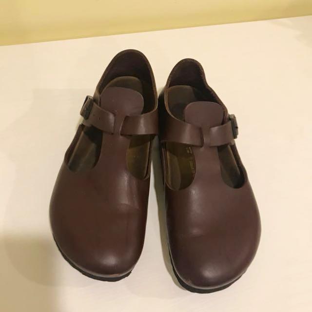 勃肯Birkenstock 包鞋(酒紅色)38號