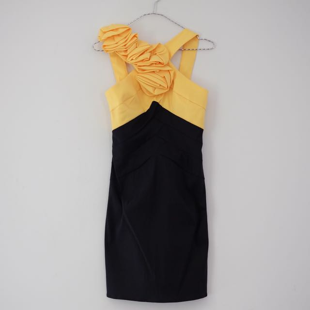 Black & Yellow Mini Dress