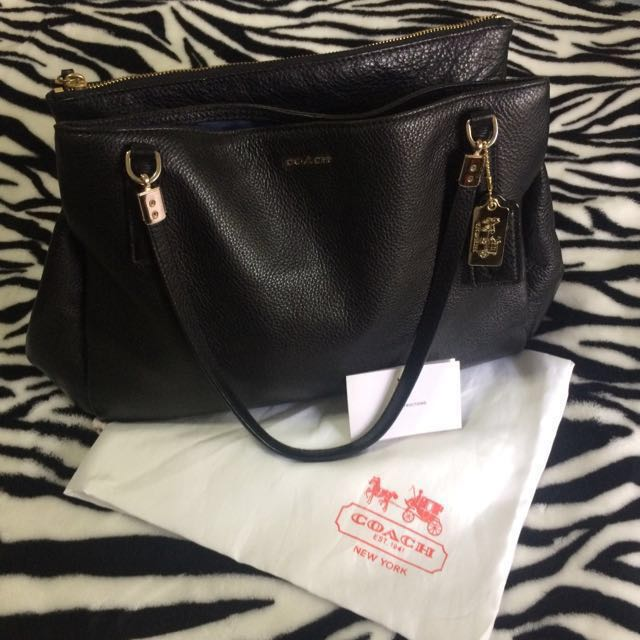 Black Coach Hand Bag