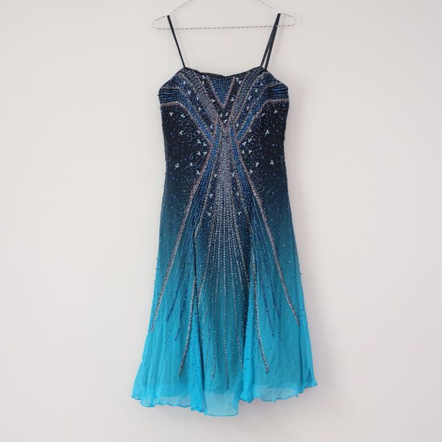 Blue Sparkle Mini Dress
