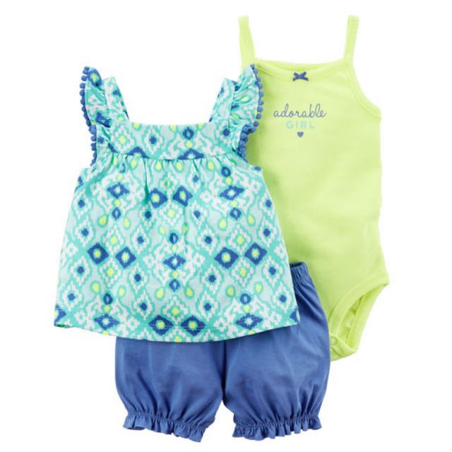 6978bb5a0 BN Carter s Baby Toddler Girl Adorable Romper   Neon Bubble Shorts ...