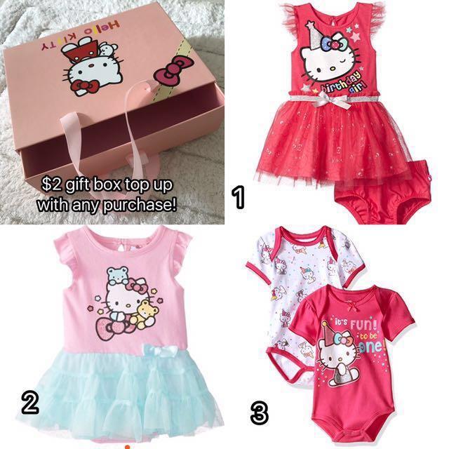 67274fe5e BN Hello Kitty Baby Girl Various Designs Dress/Romper/Bodysuits Set ...