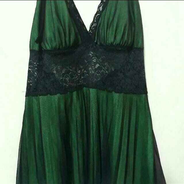 Bottle Green Satiny Dress
