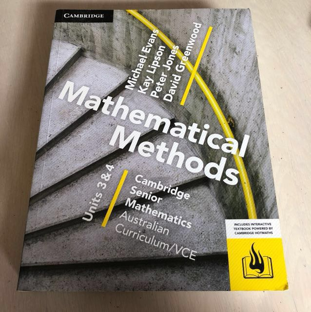 BRAND NEW. MATH METHODS UNIT 3/4 TEXTBOOK