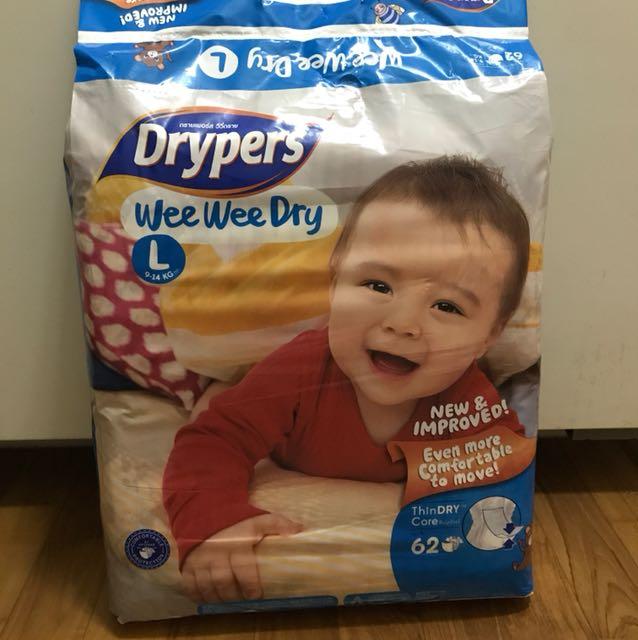 e9bcdc926 Brand new sealed - Drypers L tape 62 pcs