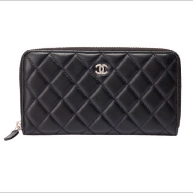 Chanel皮夾、香奈兒拉鍊式長夾
